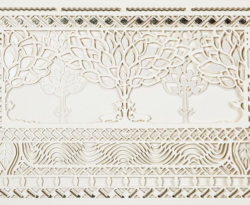 Silver Jewel paper cut ketubah
