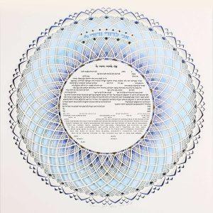 Color Song ketubah design