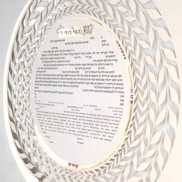 ketubah from the side