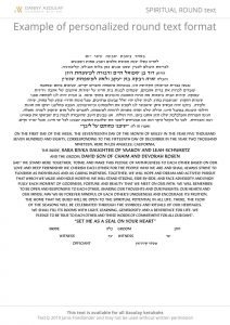 Spiritual text for ketubah