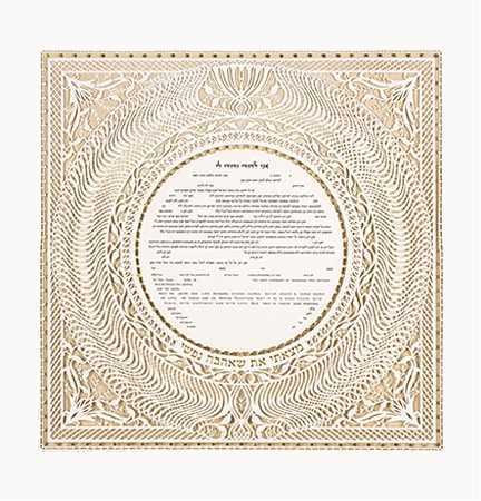 Wedding vows from a ketubah studio