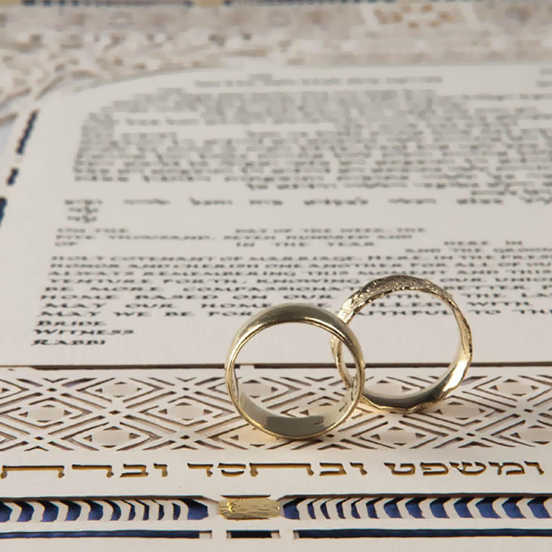 wedding ketubah with ring
