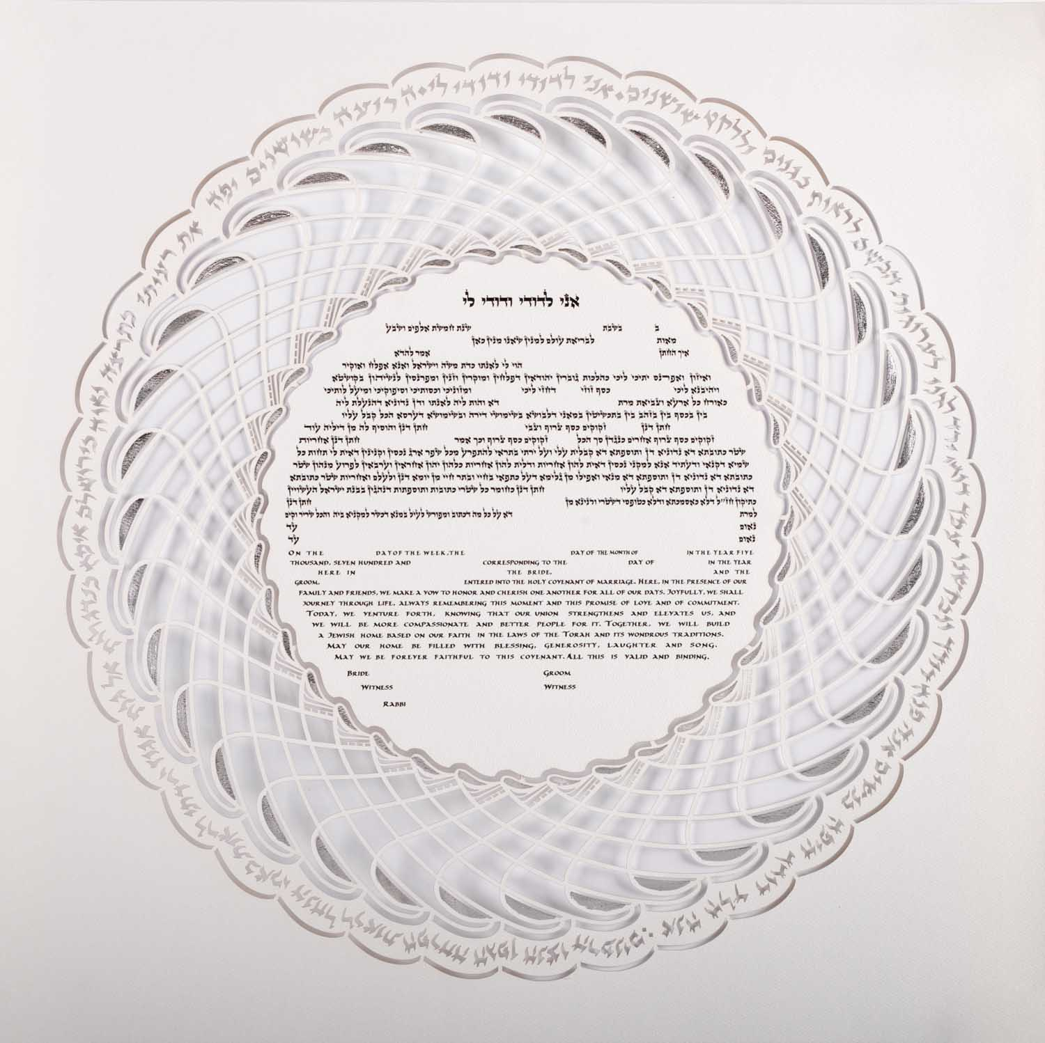 Witness rules help determine who signs a ketubah such as the one in the picture