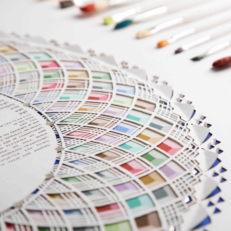 Multi-Color Ketubah